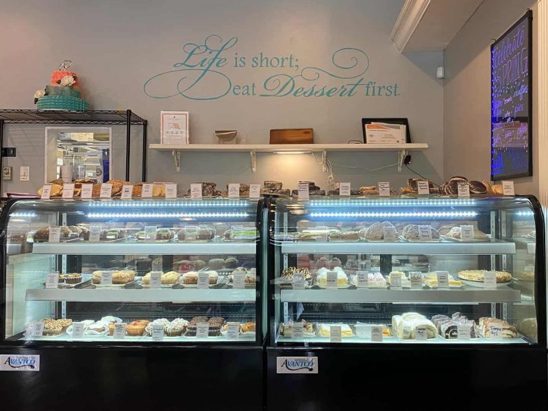 Glass Cases with Gluten Free Desserts