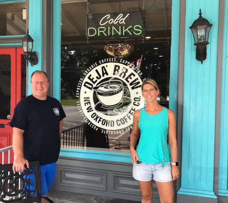 Lori and Steve Owners of Deja Brew